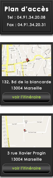 plans d'accès du théâtre antidote Marseille, plan Maps